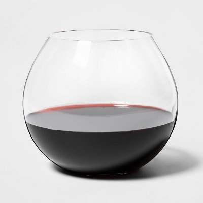 17oz 4pk Glass Stemless Red Wine Glasses - Threshold™