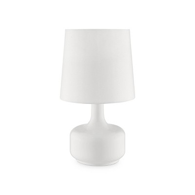 """17.25"""" Modern Metal Table Lamp with Touch Sensor White - Ore International"""