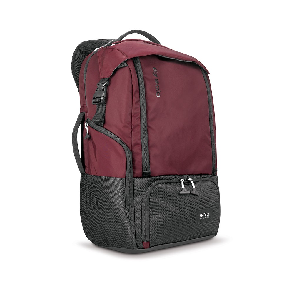 "Image of ""Solo 20.5"""" Elite Backpack - Burgundy, Red"""