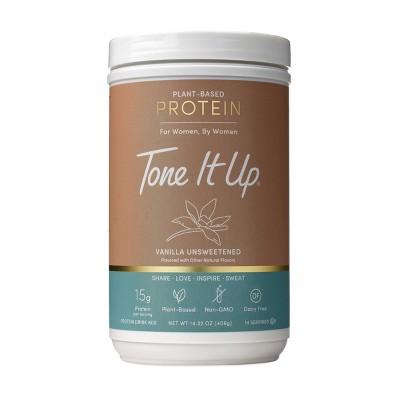 Tone It Up Plant-Based Protein Powder - Vanilla Unsweetened - 14.32oz