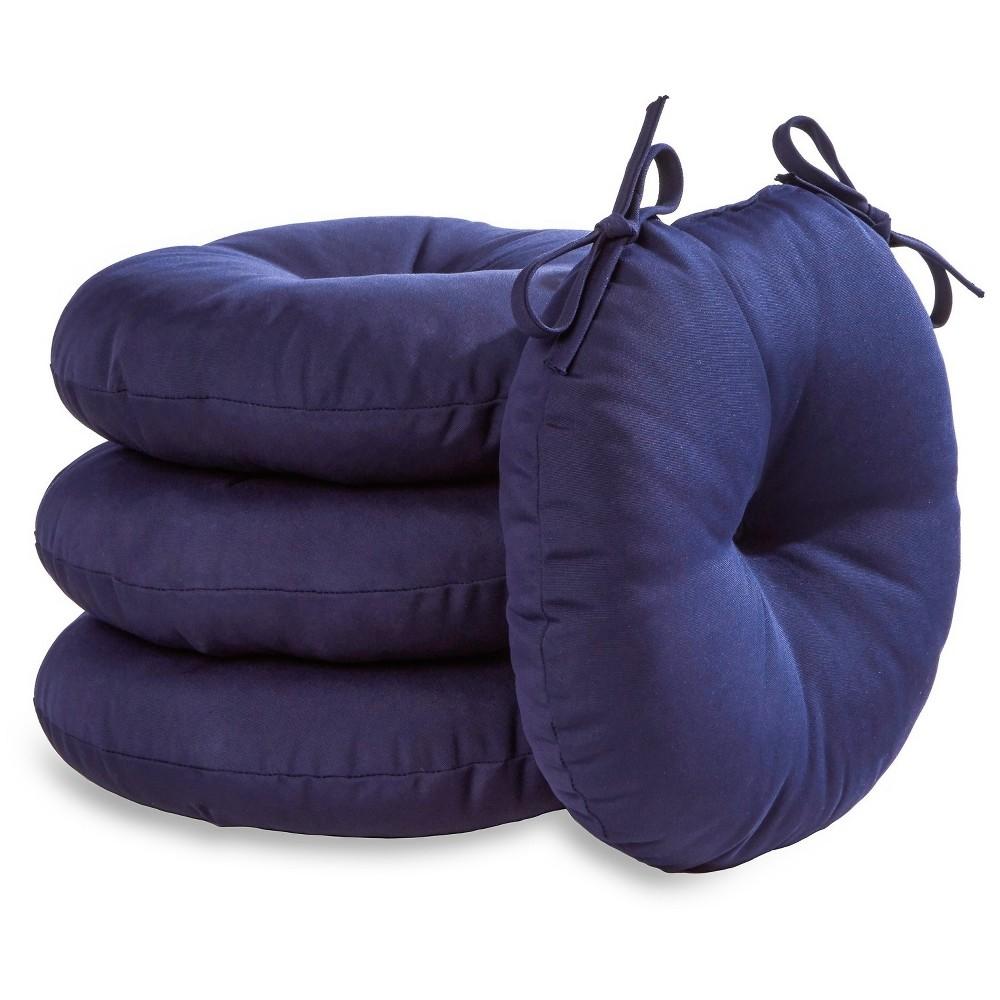 "Image of ""4pk 18"""" Solid Outdoor Bistro Chair Cushions - Navy - Kensington Garden"""