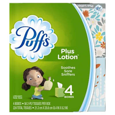 Puffs Plus Lotion Facial Tissue - 4pk/56Ct