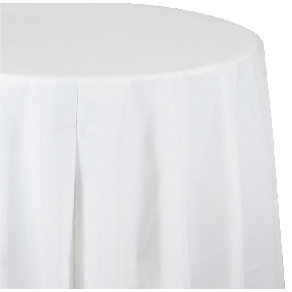 White Disposable Tablecloth