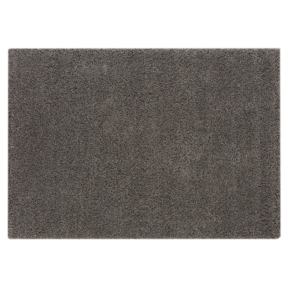 8'X10' Solid Area Rug Dark Gray - Balta Rugs, Off-White Gray