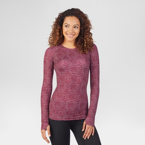 fdf7b09af55b Warm Essentials® by Cuddl Duds® Women's Thermal Active Long Sleeve Crew Top