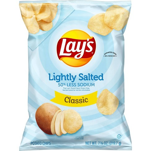 Lay's Lightly Salted Classic Potato Chips - 7.75oz - image 1 of 3