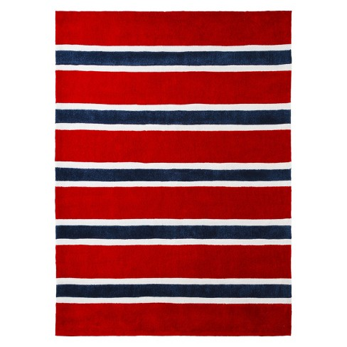 Rugby Stripe Area Rug - image 1 of 2