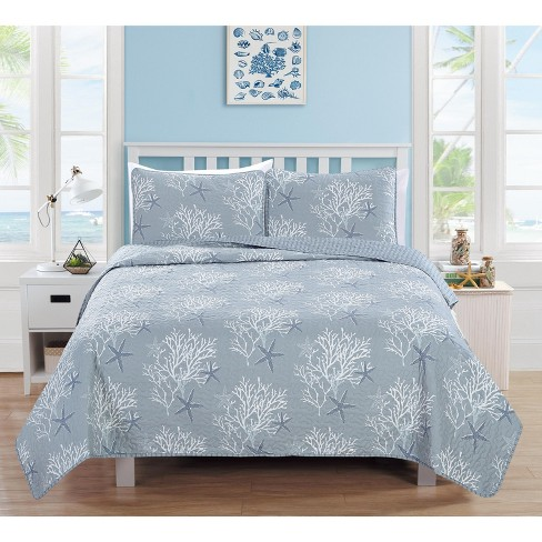 Home Fashion Designs Fenwick Coastal Beach Theme Quilt Set - image 1 of 3