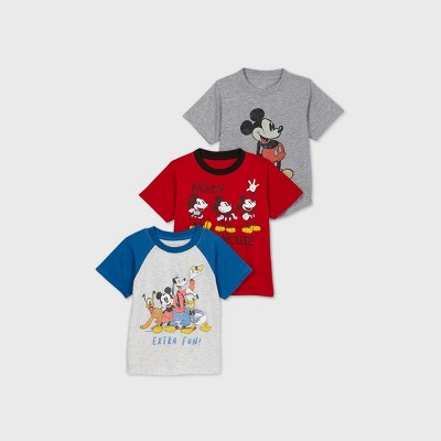 Toddler Boys' 3pk Mickey Mouse Short Sleeve T-Shirt
