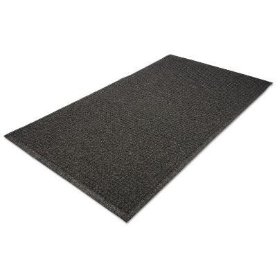 4'x6' Rectangle Indoor and Outdoor Solid Floor Mat Black - Guardian