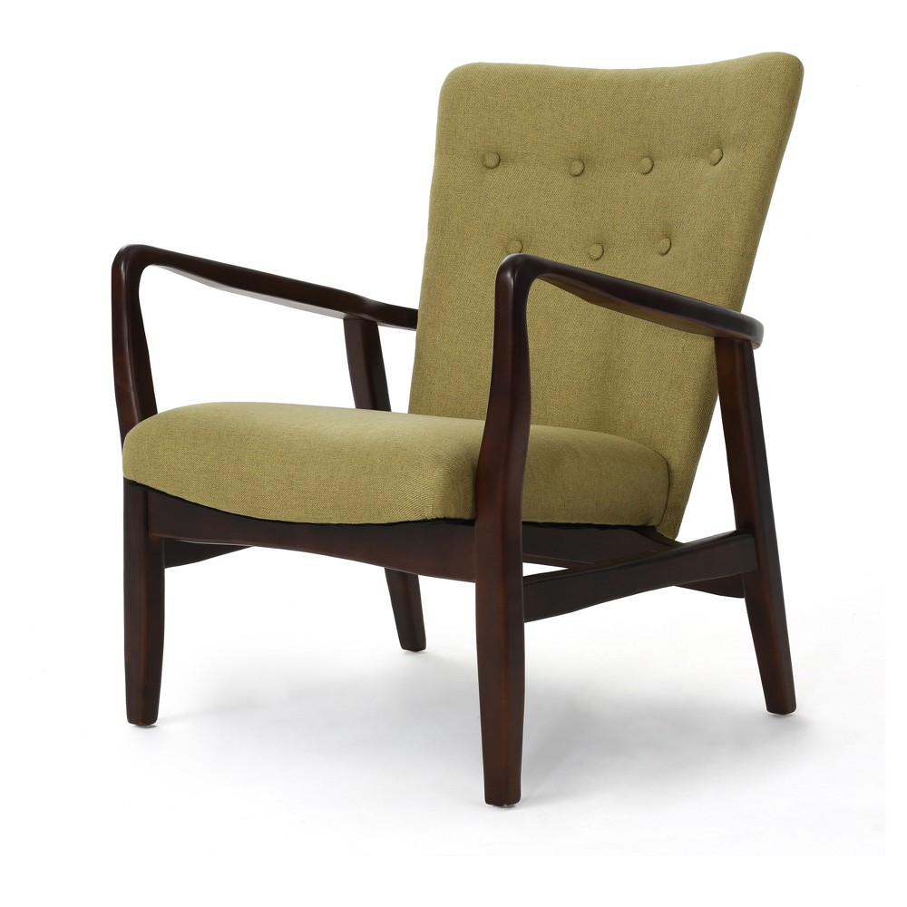 Becker Upholstered Arm Chair - Wasabi Green - Christopher Knight Home