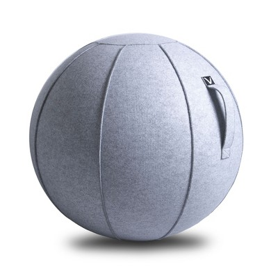 Vivora Luno MAX Classic Series Luxury Felt Sitting and Fitness Ball Chair with Handle, Marble