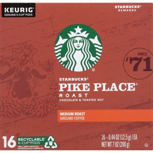 Starbucks Pike Place Medium Roast Coffee - Keurig K-Cup Pods - 16ct - image 1 of 4