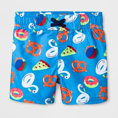6e9ff666b0 Baby Boys' Pizza And Pretzel Swim Trunks - Cat & Jack™ Blue : Target