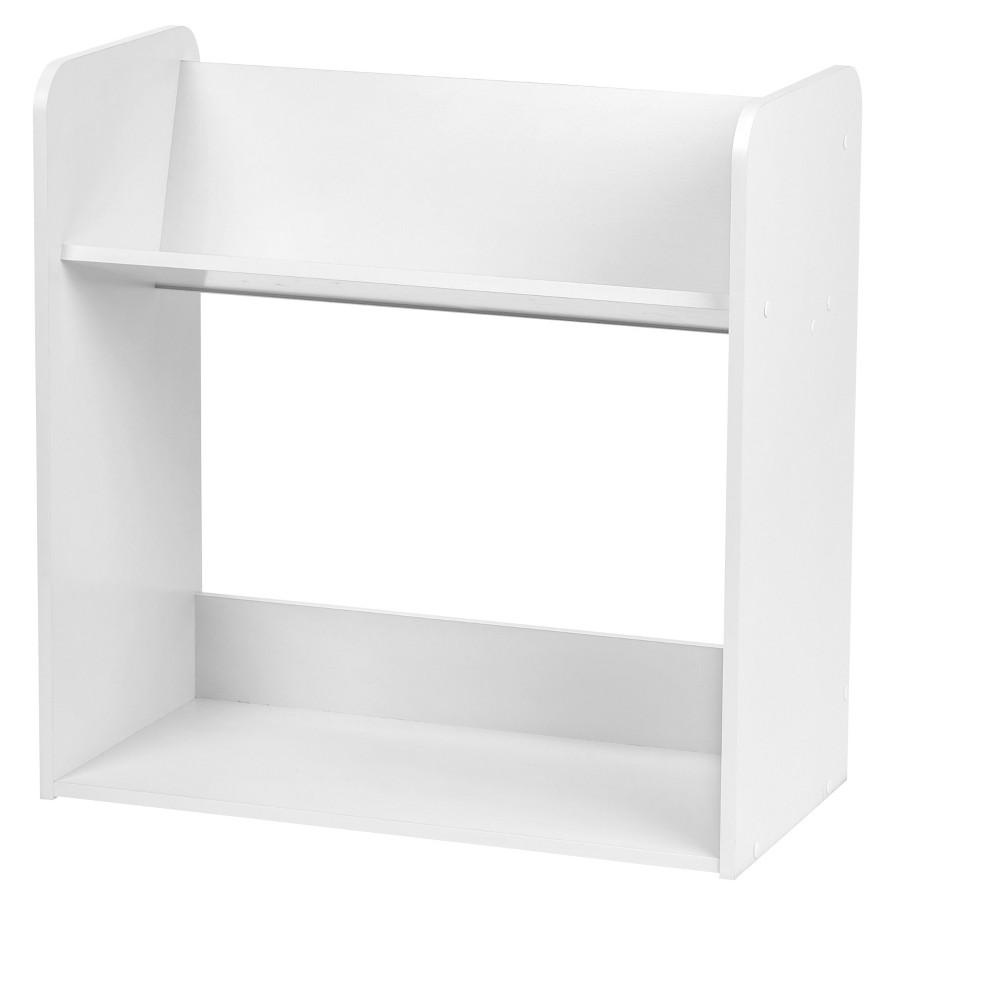 Iris 2-Tier Tilted Storage Shelf -White, White