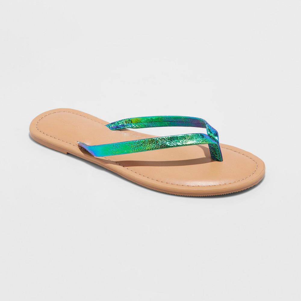 Girls' Serena Flip Flop Sandals - Cat & Jack S, Multi-Colored