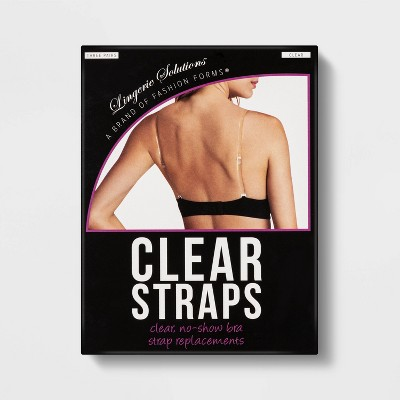 Fashion Forms Women's Clear Bra Straps - 3 Pack