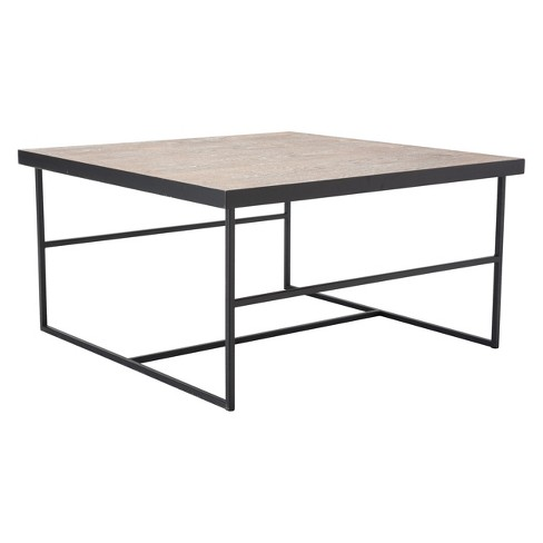 "29.5"" Industrial Square Coffee Table - Black - ZM Home - image 1 of 2"