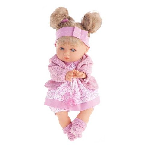 "Antonio Juan Dato 12"" Baby Girl Doll With Pink Onesie - image 1 of 1"