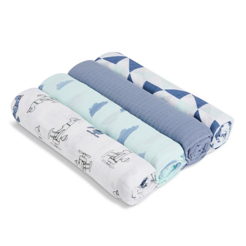 Aden® by Aden + Anais® Muslin Swaddles - Sky High - Teal - image 1 of 3