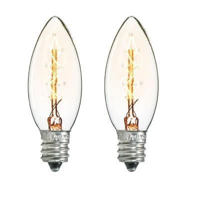 Darice Pack of 2 Cleveland Vintage Lighting Edison Style E12S Base Candelabra Bulbs