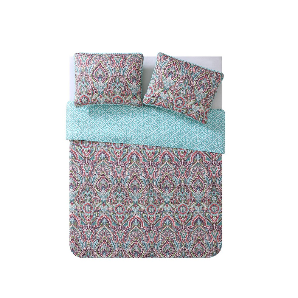 King 3pc Chora Quilt Set - Vcny Home, Multicolored