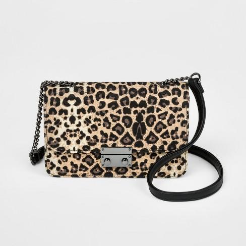 aa504a3e0e Girls  Leopard Mini Crossbody Bag - Art Class™ Black   Target