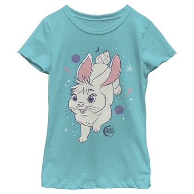 Girl's Over the Moon Bungee Star Bunny T-Shirt