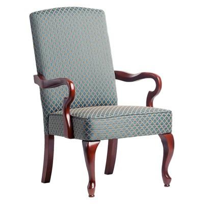 Derby Blue Gooseneck Arm Chair - Comfort Pointe
