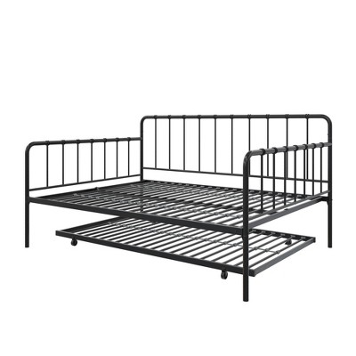 Avery Metal Full Daybed and Twin Trundle Black - Room & Joy