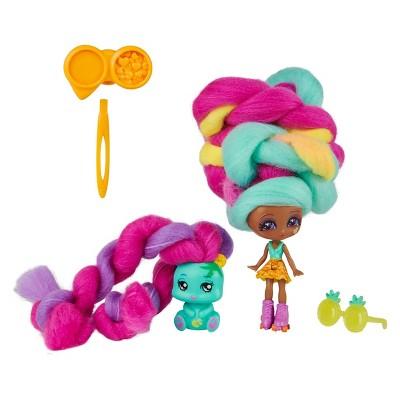 Candylocks Doll + Pet - Mina Colada & Grizz
