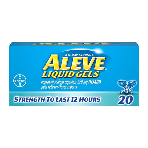 Aleve Pain Reliever & Fever Reducer Liquid Gels - Naproxen Sodium (NSAID) - image 1 of 3