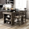 3pc Graves Padded Seat Kitchen Island Set - HOMES: Inside + Out - image 2 of 3