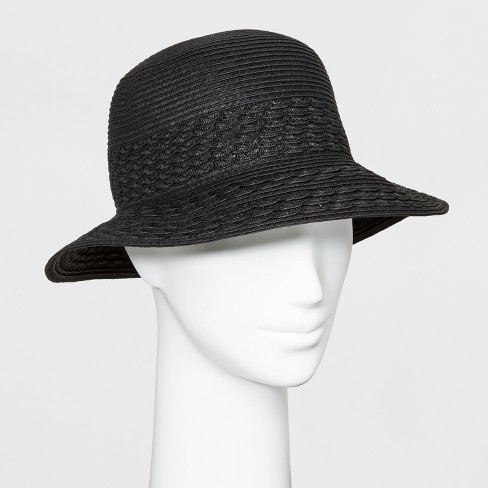 b35d4ff411a Women s Scallop Inset Cloche Hat - A New Day™ Black   Target