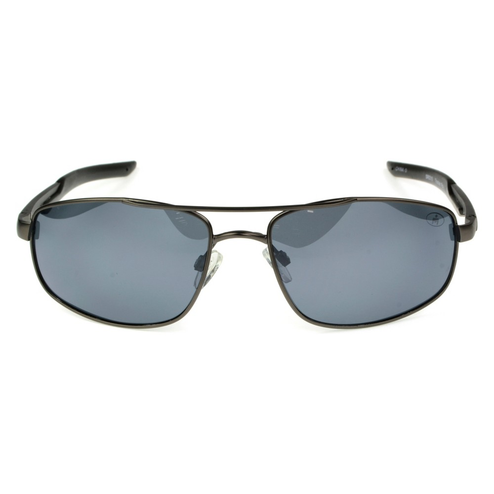 Image of Men's Ironman Polarized Aviator Sport Sunglasses - Gray, Size: Small