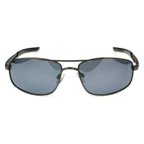 67be6d4d76 Men s Ironman Polarized Aviator Sport Sunglasses - Gray   Target