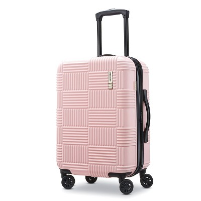 American Tourister 20  Checkered Hardside Suitcase - Pink