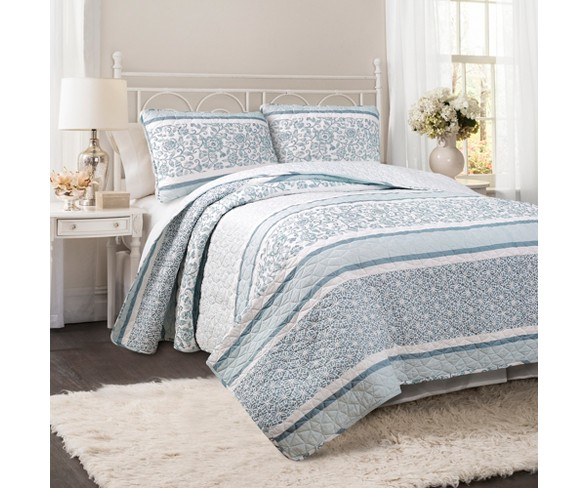 Nisha Quilt Set Blue Lush Decor