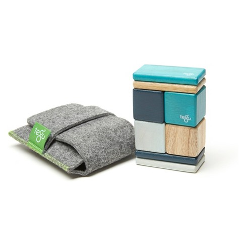 Tegu Pocket Pouch Magnetic Wooden Block Set, Blues - 8 Piece - image 1 of 6