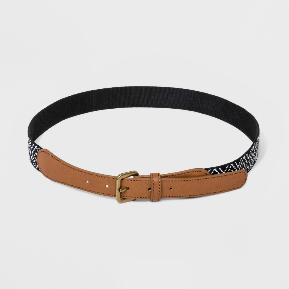 Women's Woven Belt - Universal Thread Black/White/Khaki M