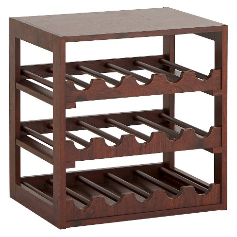 Candace Transitional Wine Storage Rack Vintage Walnut - HOMES: Inside + Out - image 1 of 4