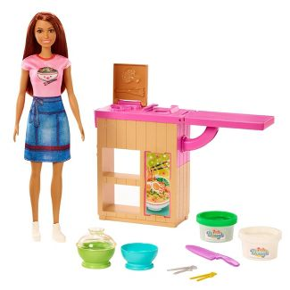 Barbie You Can Be Anything Noodle Maker Brunette Doll Playset