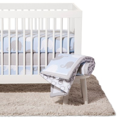NoJo® Crib Bedding Set 8pc - Elephant Dream - Blue/Gray
