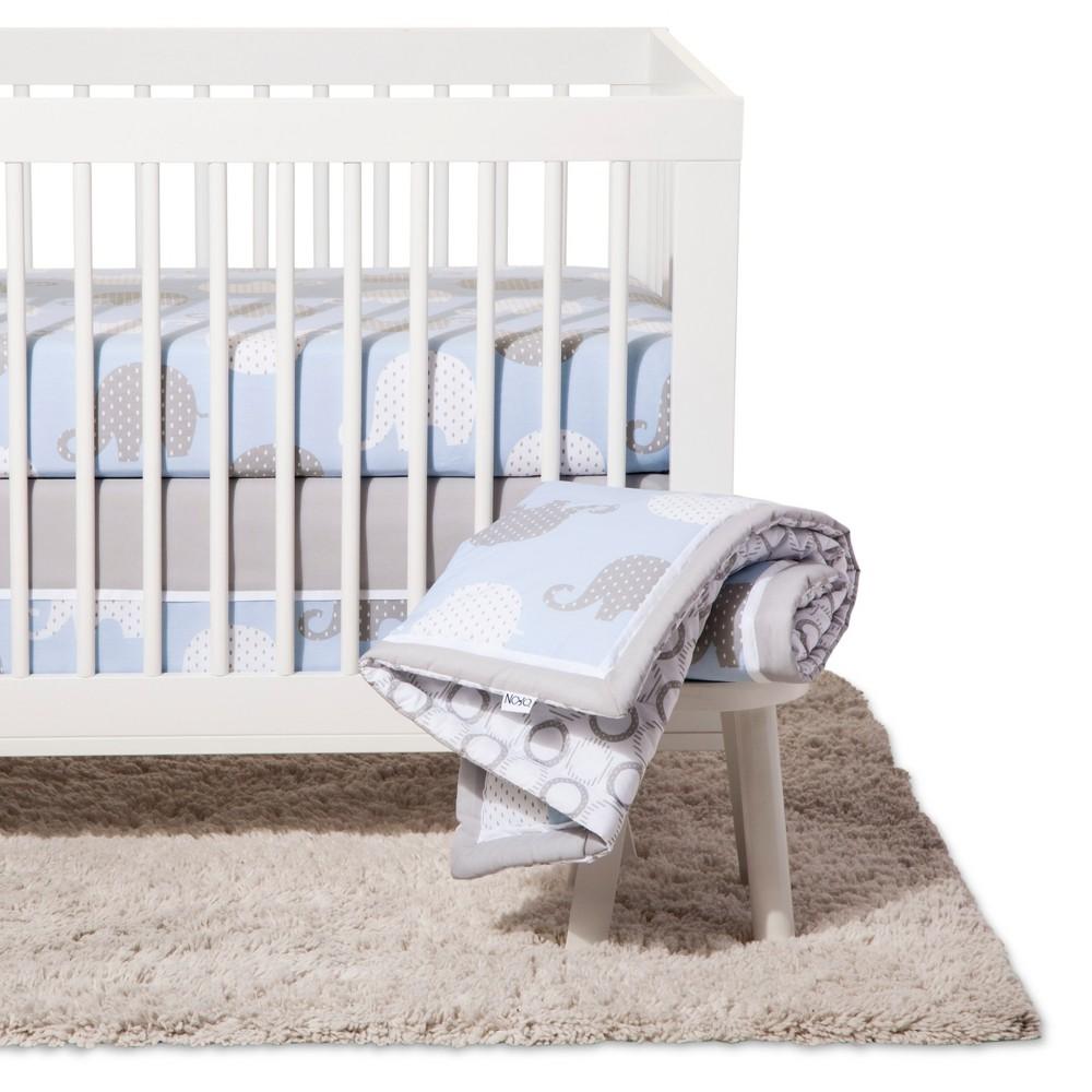 Image of NoJo Crib Bedding Set 8pc - Elephant Dream - Blue/Gray
