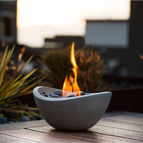 Wave Table Top Fire Bowl - Gray - Terra Flame - image 1 of 4
