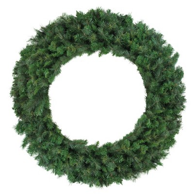 """Northlight 60"""" Unlit Mixed Canyon Pine Artificial Christmas Wreath"""