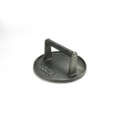 Charcoal Companion Cast Iron Round Grill Press