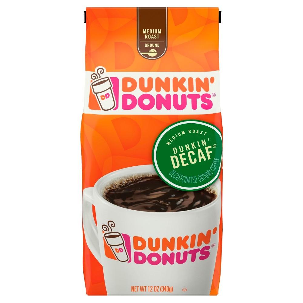 Dunkin' Donuts Medium Roast Ground Coffee - Decaf - 12oz