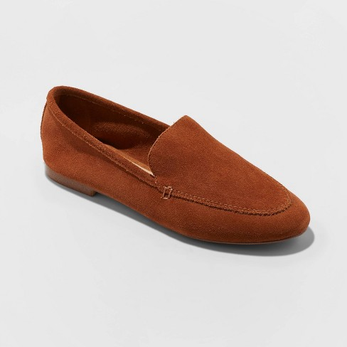 Women's Mila Microsuede Deconstructed Loafers - A New Day™ - image 1 of 3