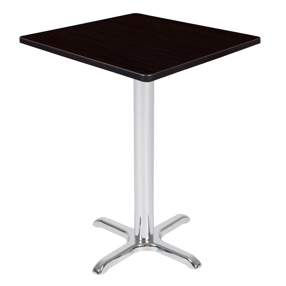 30 Via Cafe High Square X - Base Table Espresso/Chrome (Brown/Grey) - Regency